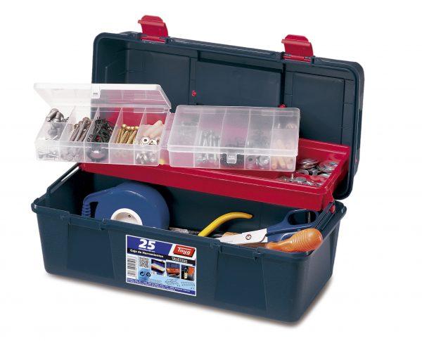 1 caja herramientas plastico 600x485 - Cajas de herramientas de plástico mod. 21-25