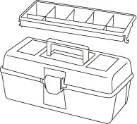 1 caja herramientas plastico mod 21 - Cajas de herramientas de plástico mod. 20-25