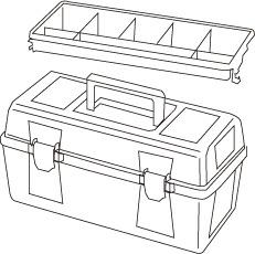 1 caja herramientas plastico mod 22 - Cajas de herramientas de plástico mod. 20-25