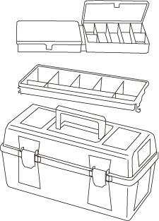 1 caja herramientas plastico mod 23 - Cajas de herramientas de plástico mod. 20-25