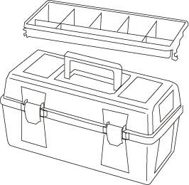 1 caja herramientas plastico mod 24 - Cajas de herramientas de plástico mod. 20-25