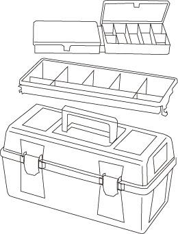 1 caja herramientas plastico mod 25 - Cajas de herramientas de plástico mod. 20-25