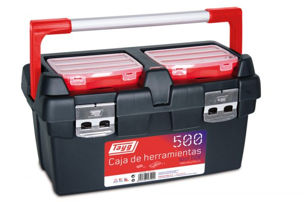 Cajas de herramientas de plástico y aluminio mod. 500