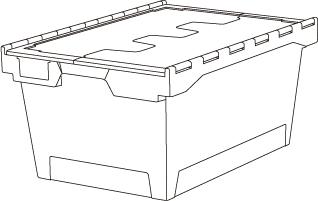 2 euro cajas para almacen y tranporte 6424 T - Euro cajas para almacén y transporte mod.64-T
