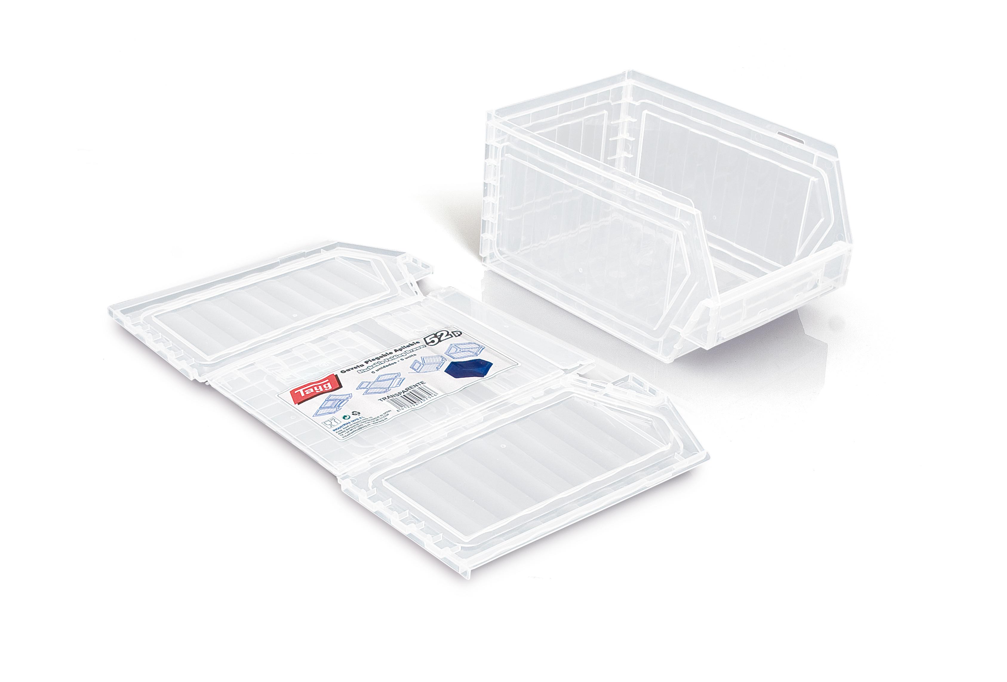 2 gaveta plegable apilable - Gavetas de plástico apilables