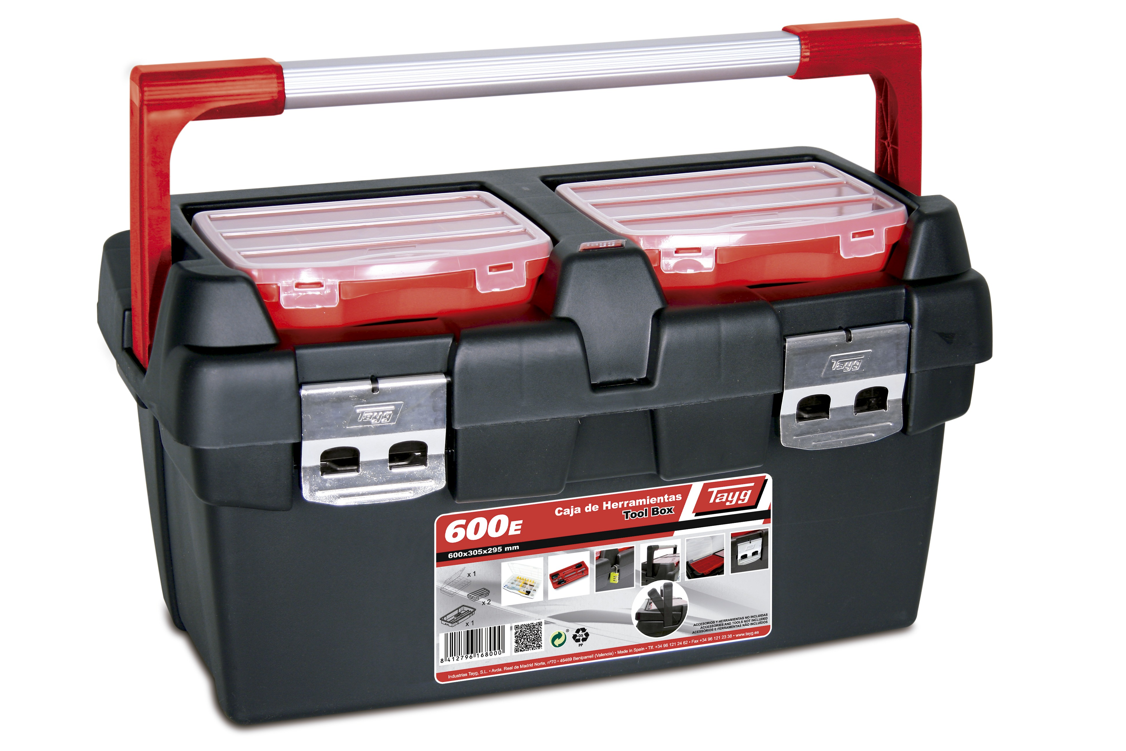 3 caja de herramientas de plastico y aluminio - Gama Profesional