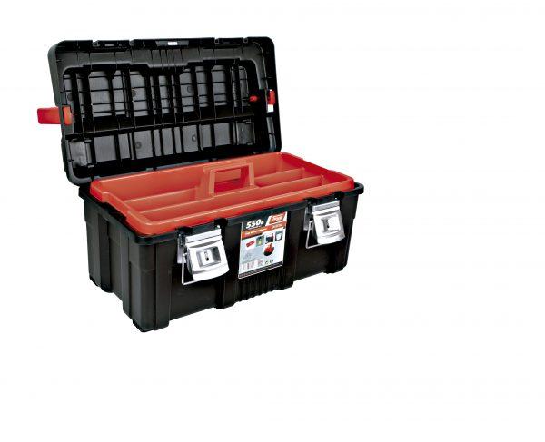 4 caja de herramientas de plastico y aluminio 600x487 - Cajas de herramientas de plástico y aluminio mod. 550