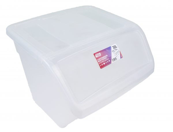 caja ordenacion transparente 30l destacada 600x459 - Colección hogar mod. 30L Transparente