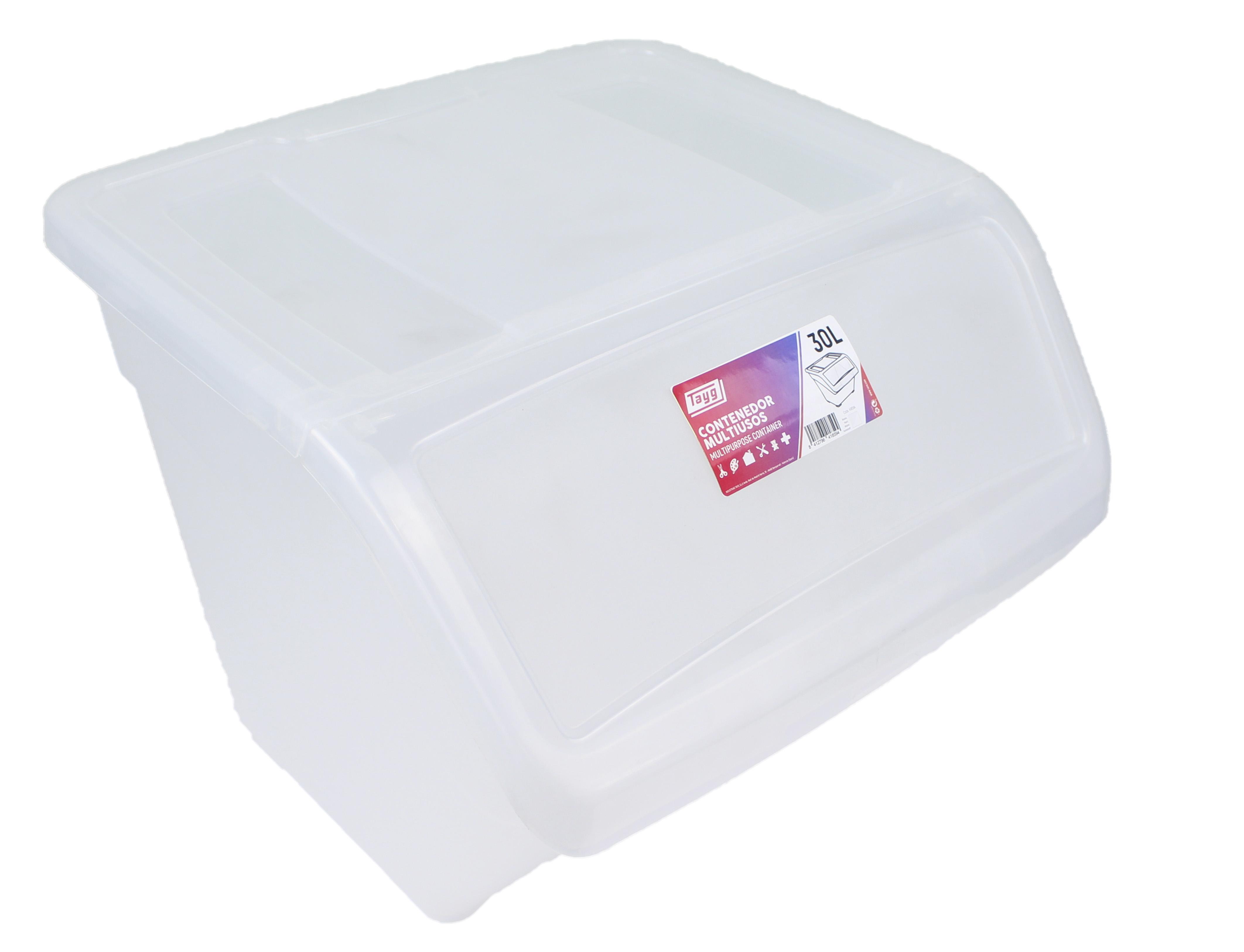 caja ordenacion transparente 30l destacada - Cajas Ordenación - Colección Hogar