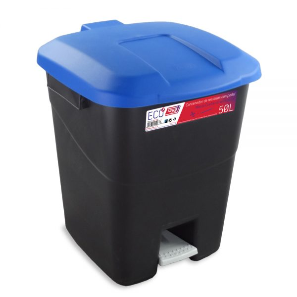 Contenedores de residuos negro 50P