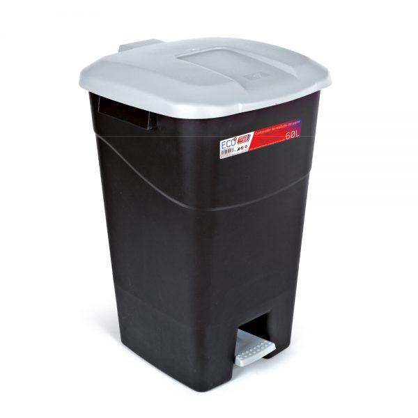 Contenedores de residuos negro 60P